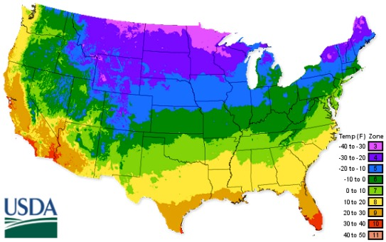 United States Department Of Agricultural Map - Us map zones
